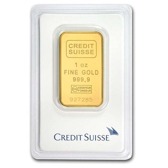 1 oz Gold Bars - Credit Suisse (In Assay)
